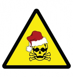 excess Christmas warning vector image