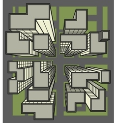 city top view colored line art vector image