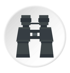 Binoculars icon circle vector