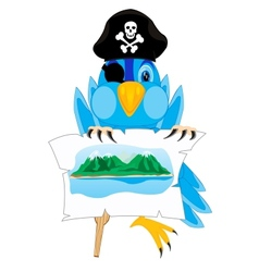 Bird pirate vector
