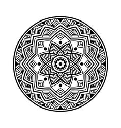 black circle mandala vector image