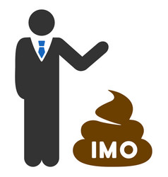 Businessman show imo shit flat icon vector