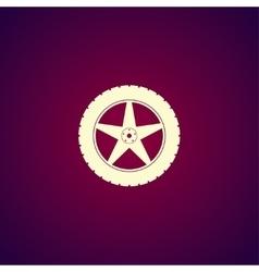 car wheel icon vector image vector image