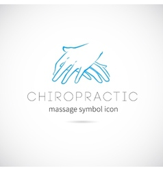 Chiropractic massage concept icon symbol or label vector