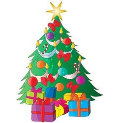 Christmas tree cartoon vector