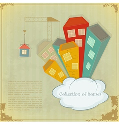 Collection of houses vector image