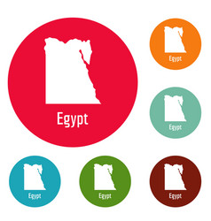 Egypt map in black simple vector