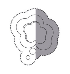 figure cloud chat bubble icon vector image vector image