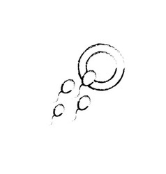 Figure ovum with spermatozoon to biology vector