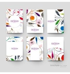 Floral ornament brochure template flyer vector