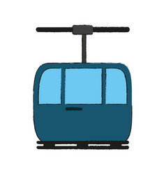funicular cable car icon image vector image