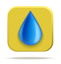 icon of waterproof material vector image vector image