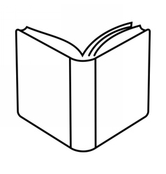 Open book linear vector image