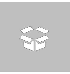 Open box computer symbol vector image vector image