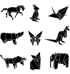 origami paper animals vector image