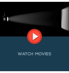Play movie button flat design vector image vector image