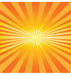 Radiating sun vector image vector image