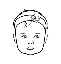 realistic baby face icon isolated vector image