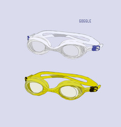Swimming goggles vector