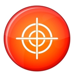 Target crosshair icon flat style vector