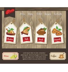 Template for food menu vector image