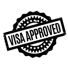 Visa approved rubber stamp vector
