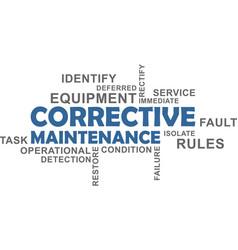 word cloud - corrective maintenance vector image