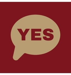 The yes speech bubble icon social network and web vector