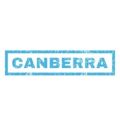Canberra rubber stamp vector