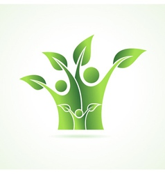 Eco family icon vector