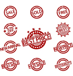 Set of rubber stamps sale vector