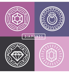 jewelry signs and emblems vector image