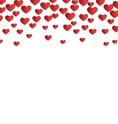 Red hearts isolated on white vector
