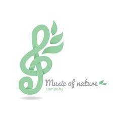 Logo music nature vector image