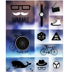 Hipster style info graphic element vector