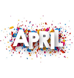 April sign vector image