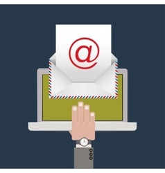 E-mail concept design vector