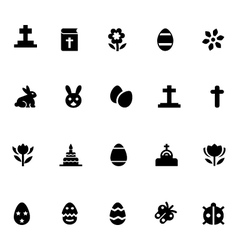 Easter icons 1 vector