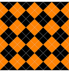 Orange black diamond background vector