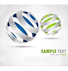 Background with abstract spheres vector