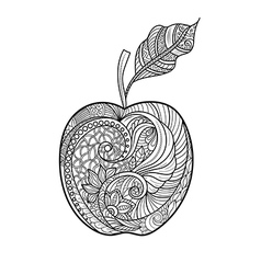 Decorative apple vector