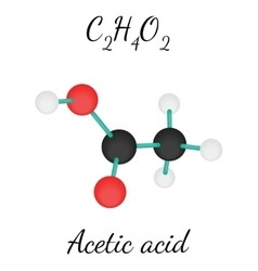 C2h4o2 acetic acid molecule vector