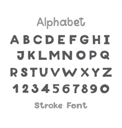 Alphabet English Sloppy Fat Stroke Font Letters vector image