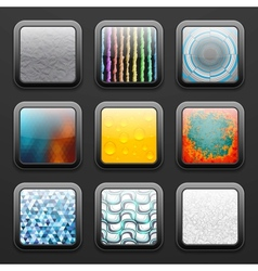 Background for the app icons set vector image