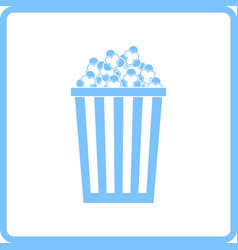 Cinema popcorn icon vector