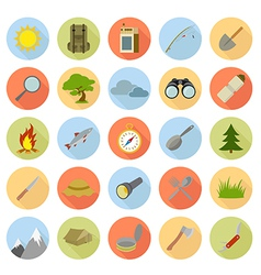 Collection of tourist icons vector image