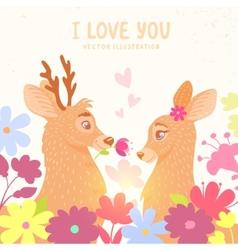 deers romantic vector image vector image