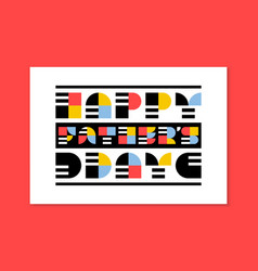 Flat style fathers day greeting card or poster vector