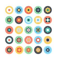 Flowers colored icons 1 vector
