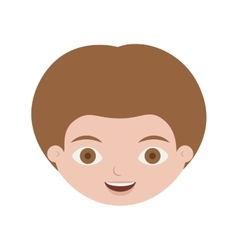 Front face child with light brown hair vector